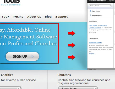 donortools whitespace grouped Advanced Design Tip #2: Technical Tips for Call to Action Buttons